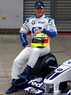 Presentation of the new HP livery on the Williams-BMW: Ralf Schumacher