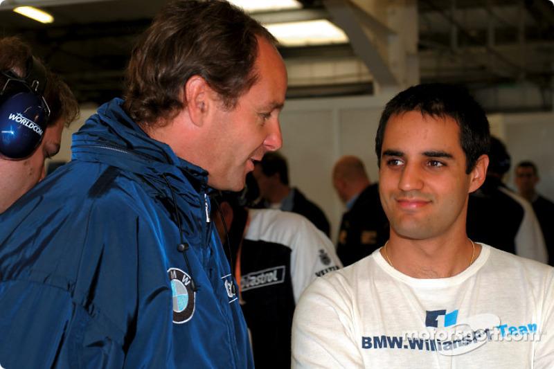 Gerhard Berger and Juan Pablo Montoya