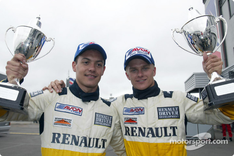 Renault Driver Development program drivers Fabio Carbone and Heikki Kovalainen