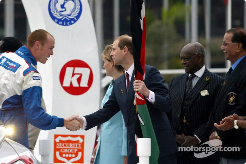 Richard Burns con el Príncipe Edward y su esposa