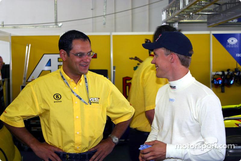 Abt Sportsline director Hans-Jürgen Abt and Mattias Ekström