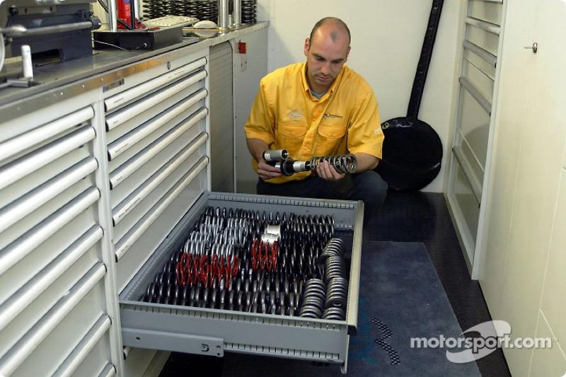 El Equipo Opel preparándose para el fin de semana