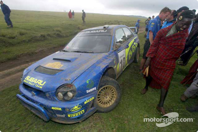 Tommi Makinen out of the rally