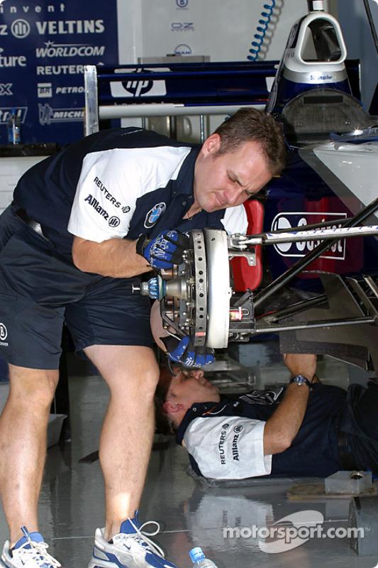 Área de garage del Equipo Williams-BMW