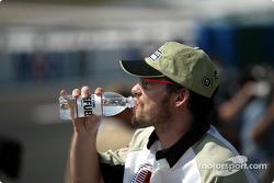 Jacques Villeneuve at the drivers parade
