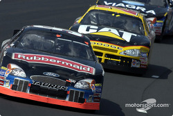 Kurt Busch leading Ward Burton