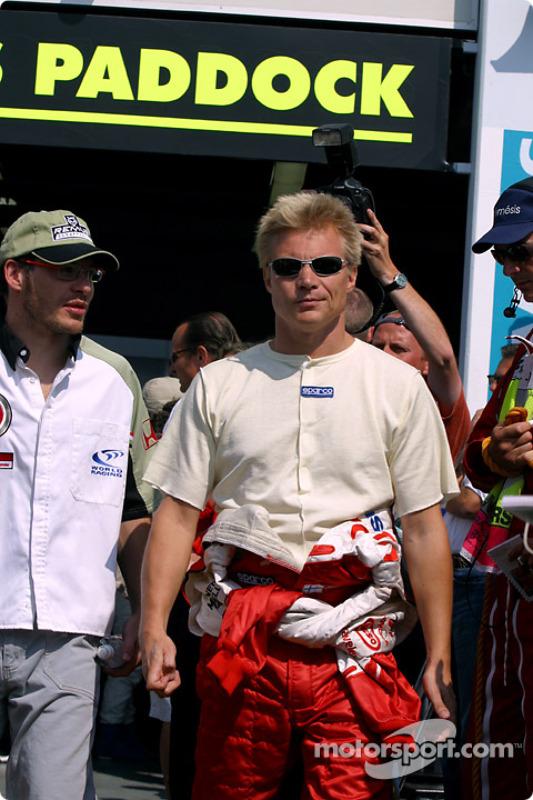 Jacques Villeneuve y Mika Salo