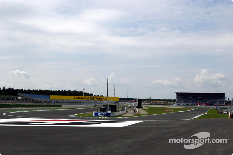The re-designed part of Hockenheim's Grand Prix circuit: the new hairpin