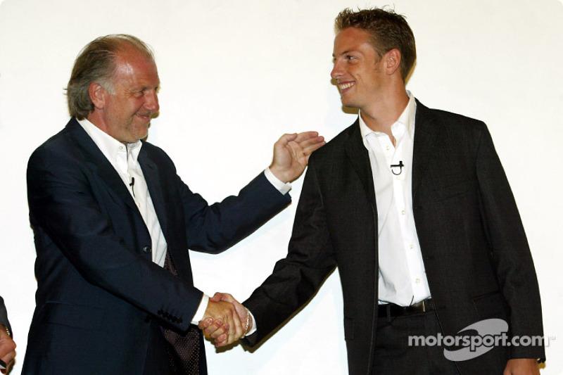 David Richards and Jenson Button