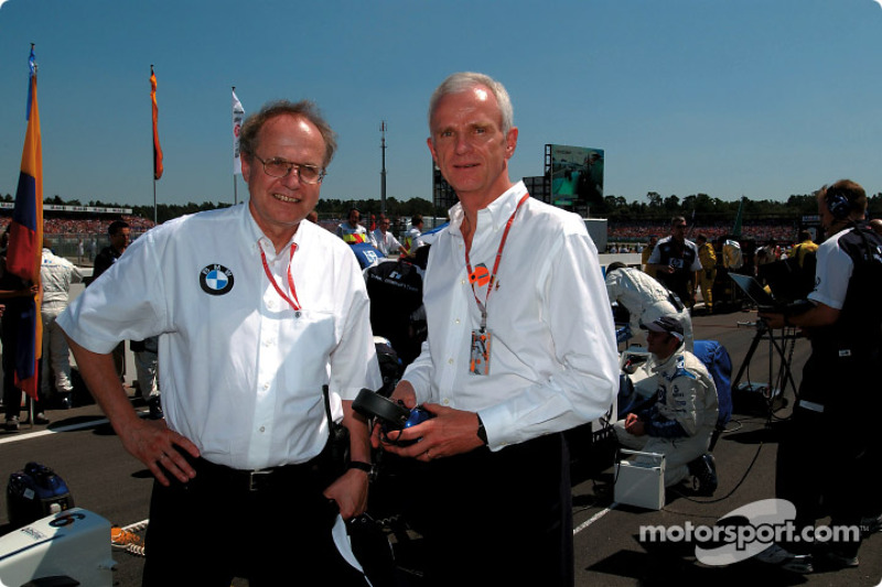 Board member for Development BMW Group Dr Burkhard Goeschel with Chairman of the Board BMW Group Dr Helmut Panke