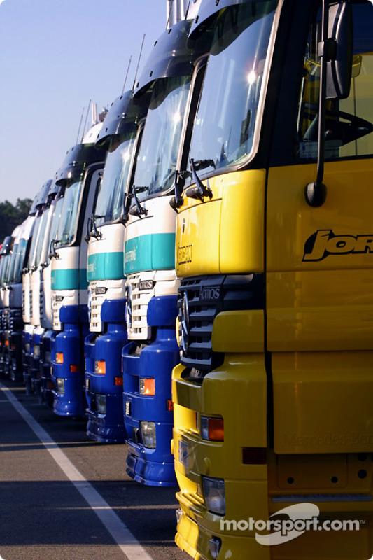 Transportadores de los equipos