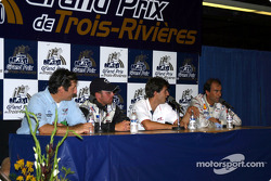 Emanuele Pirro talking at the press conference