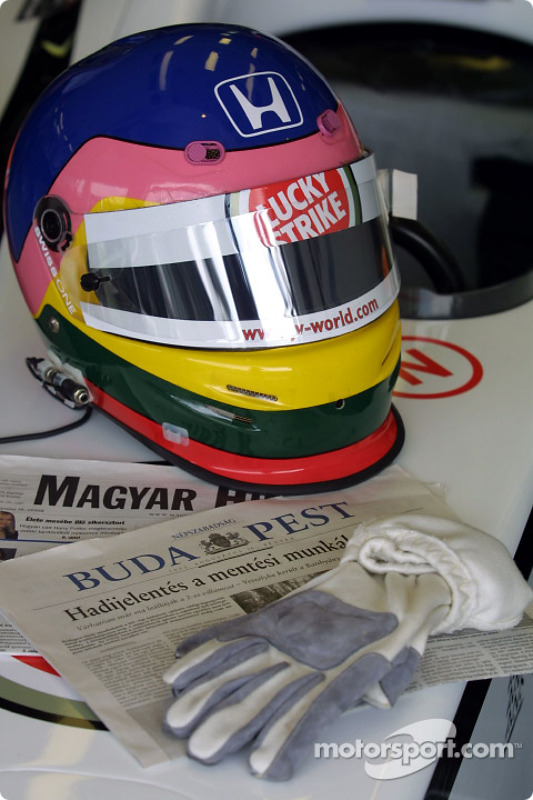 Casco de Jacques Villeneuve