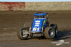 Tony Jones of Corona, Calif., in action Friday at Lakeside Speedway during the SCRA Non-Winged World Championship stop