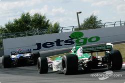 Michael Andretti and Shinji Nakano