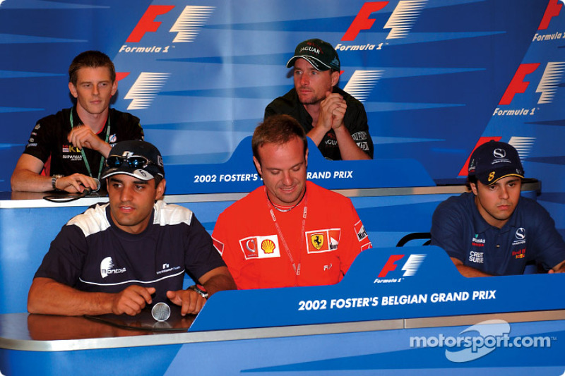 Conferencia de prensa del jueves: Juan Pablo Montoya, Rubens Barrichello, Felipe Massa, Anthony Davidson y Eddie Irvine