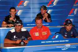 Thursday press conference: Juan Pablo Montoya, Rubens Barrichello, Felipe Massa, Anthony Davidson and Eddie Irvine