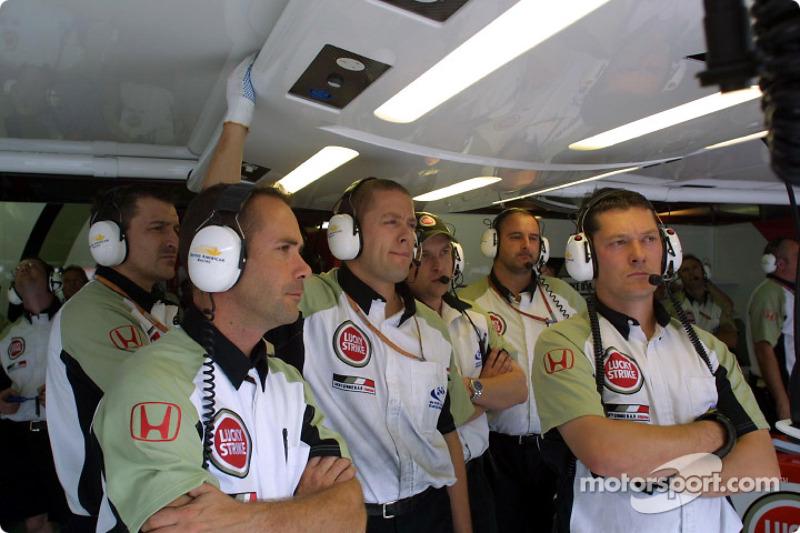 Miembros del equipo BAR