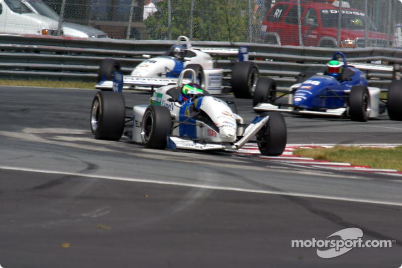 Piero Rodarte after the race