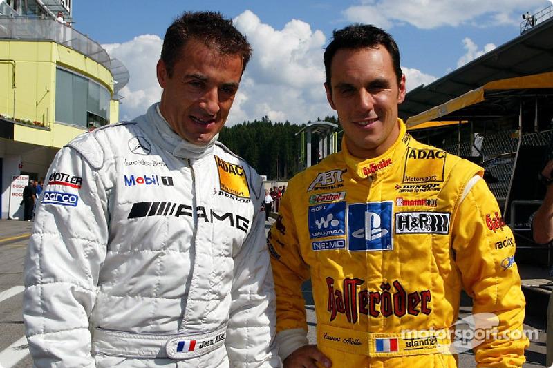 Jean Alesi y Laurent Aiello