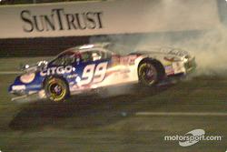 Jeff Burton crash