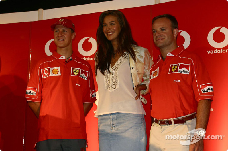 Vodafone press conference: Michael Schumacher and Rubens Barrichello