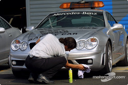 Washing the safety car