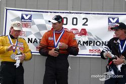 The podium: race winner Steve Sargis, Michael Pinney and Charles Guest