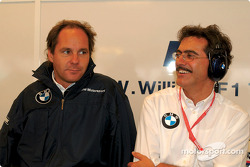 Gerhard Berger and Mario Theissen
