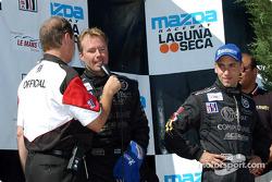 The podium: J.J. Lehto and Max Angelelli
