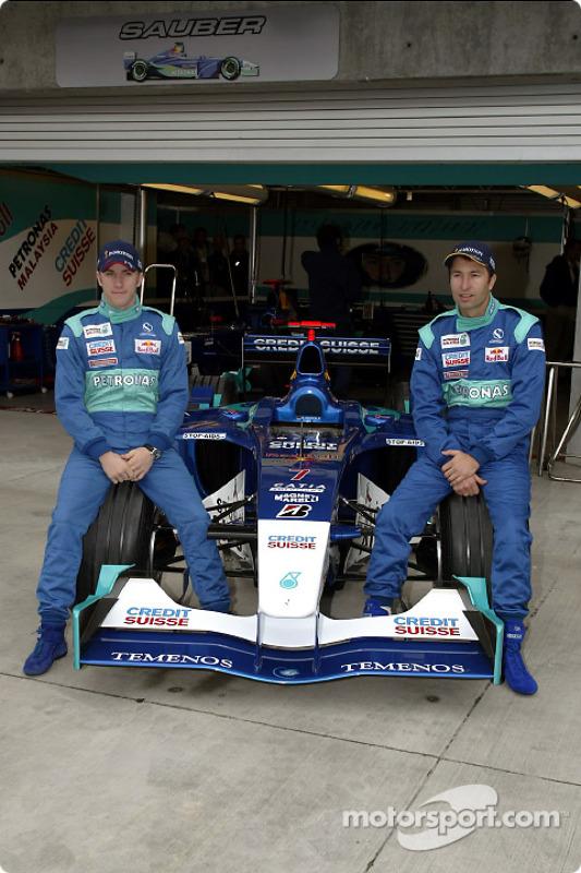 Nick Heidfeld and Heinz-Harald Frentzen