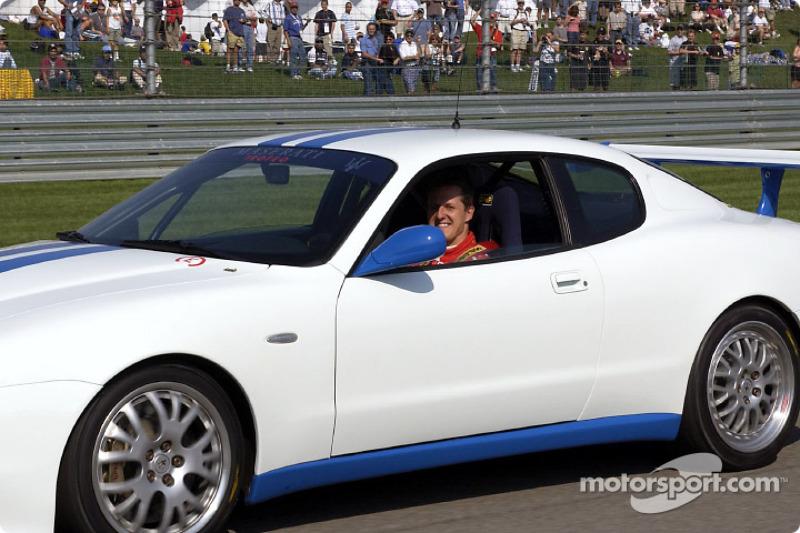 Michael Schumacher drives the Maserati Trofeo