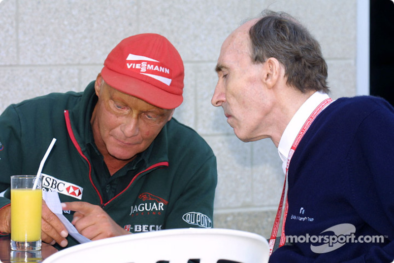 Niki Lauda and Frank Williams