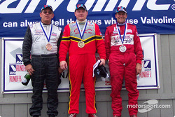 The podium: race winner Tim Cowen with Cliff Ebben and Philip Simms