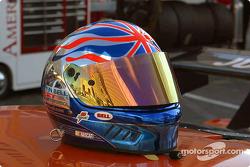 Justin Bell's helmet