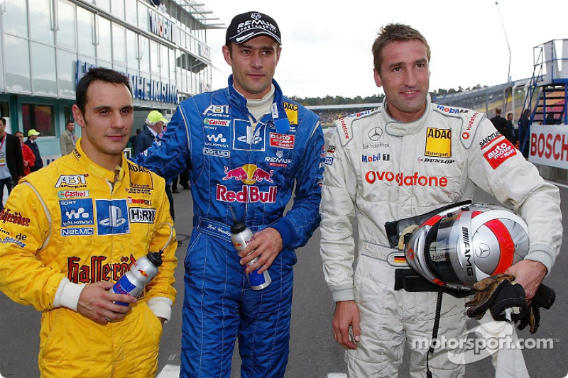The top-3 qualifiers: Laurent Aiello, Karl Wendlinger and Bernd Schneider