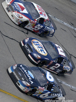 Jeff Burton, Rusty Wallace and Mark Martin