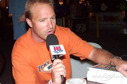 Special Olympics charity fund-raiser: Bill Auberlen being interviewed