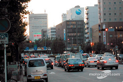 Traffic, dusk, Nagoya