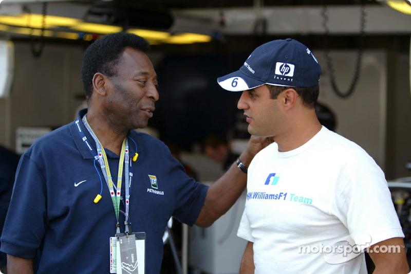 El gran Pelé con Juan Pablo Montoya