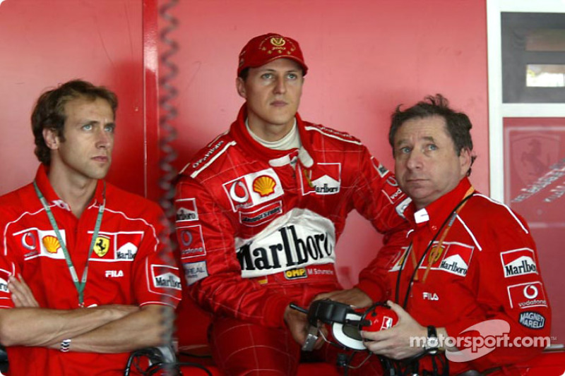 Luca Badoer, Michael Schumacher ve Jean Todt