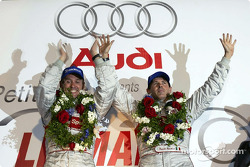 The podium: race winners Tom Kristensen and Rinaldo Capello