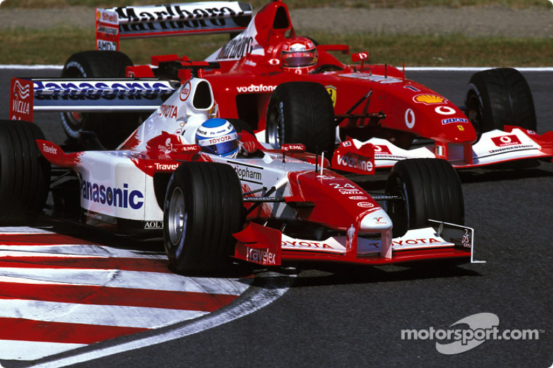Mika Salo and Michael Schumacher