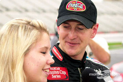 The Coca-Cola Racing Family promotion: Kurt Busch and his girlfriend