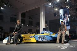 Spoon/Mild Seven RenaultF1 Media Party: Jenson Button and Fernando Alonso