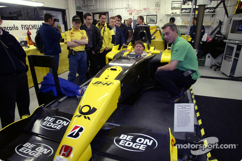 Jordan fans visit the Fordan Grand Prix factory