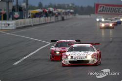 #22 Xanavi Nismo GT-R try to pass #39 Denson Sard Supra