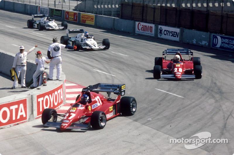 Patrick Tambay devant René Arnoux, Keke Rosberg et Jacques Laffite