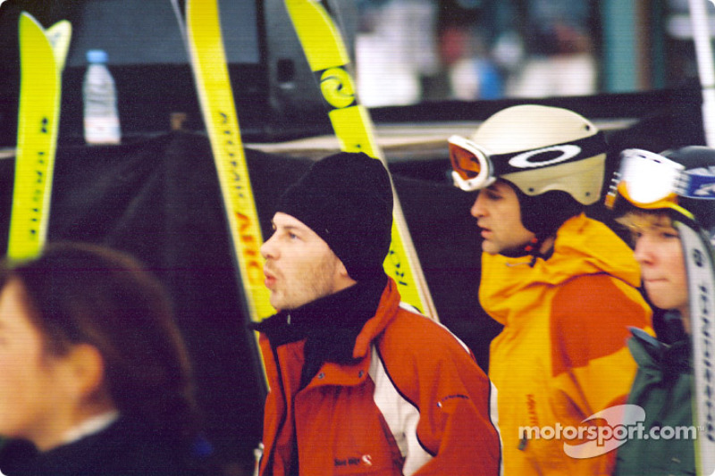 Jacques Villeneuve gets ready to hit the ski slopes
