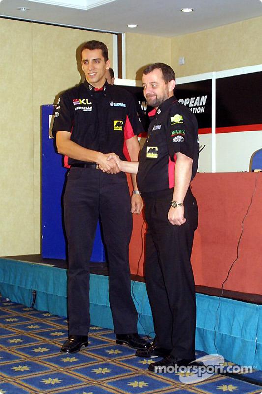 Justin Wilson and Paul Stoddart